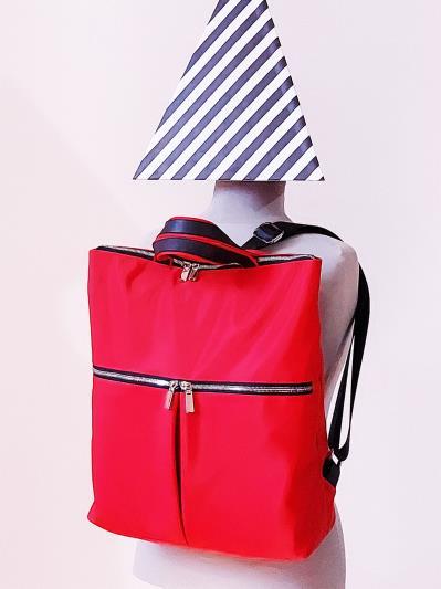 alba soboni. Сумка-рюкзак MAN-005-1 червоний. Вид 1.