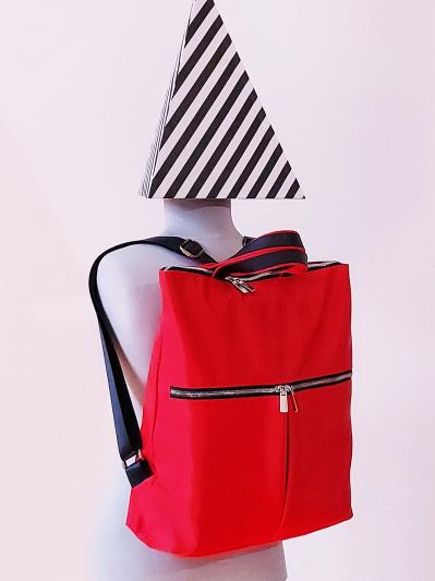 alba soboni. Сумка-рюкзак MAN-005-1 червоний. Вид 2.