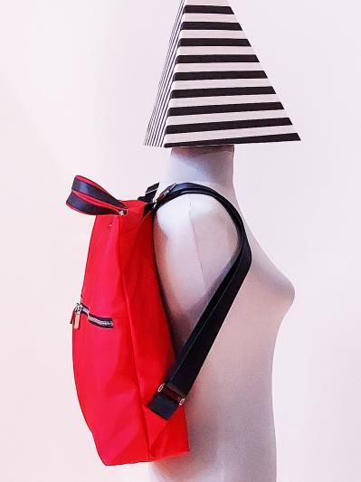 alba soboni. Сумка-рюкзак MAN-005-1 червоний. Вид 3.