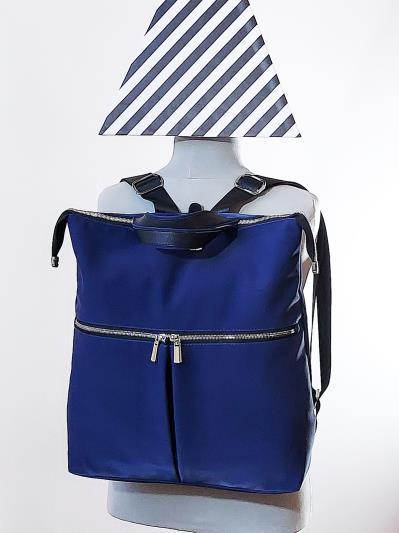 alba soboni. Сумка-рюкзак MAN-005-3 синий. Вид 1.