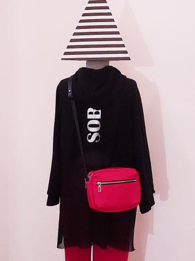 Фото товара: сумка через плече MAN-006-1 червоний. Фото - 1.