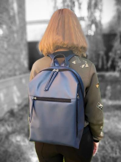 alba soboni. Рюкзак MAN-002-1 синій. Вид 3.