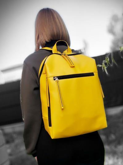 alba soboni. Рюкзак MAN-002-2 жовтий. Вид 1.
