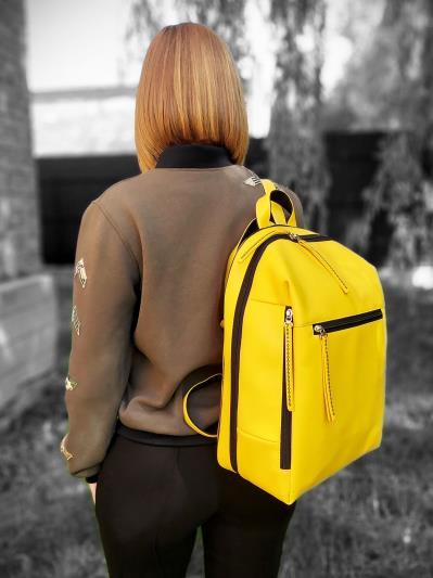 alba soboni. Рюкзак MAN-002-2 жовтий. Вид 2.