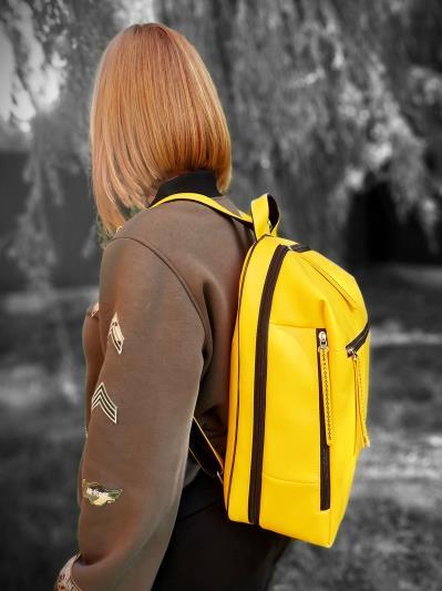 alba soboni. Рюкзак MAN-002-2 жовтий. Вид 3.