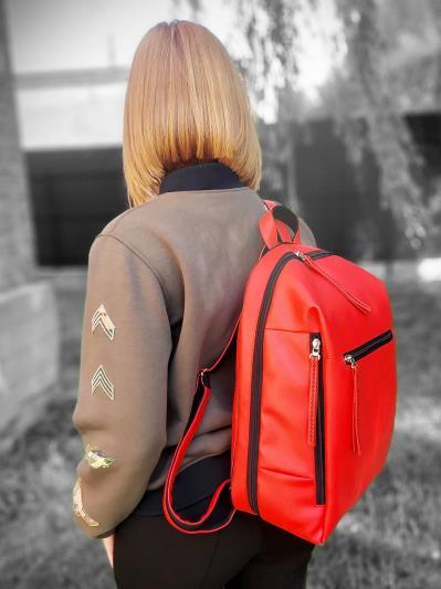 alba soboni. Рюкзак MAN-002-3 червоний. Вид 2.