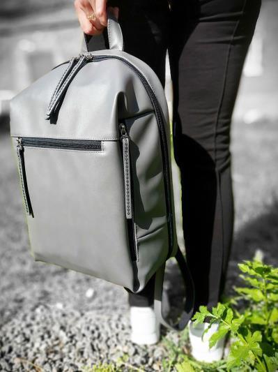 alba soboni. Рюкзак MAN-002-5 серый. Вид 2.