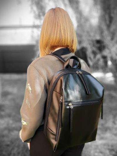 alba soboni. Рюкзак MAN-002-6 чорний. Вид 2.