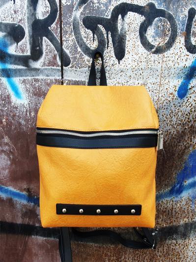 alba soboni. Рюкзак MAN-014-4 жовтий. Вид 1.