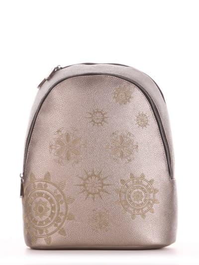 Шкільний рюкзак, модель 191576 золота олива. Фото товару, вид спереду.