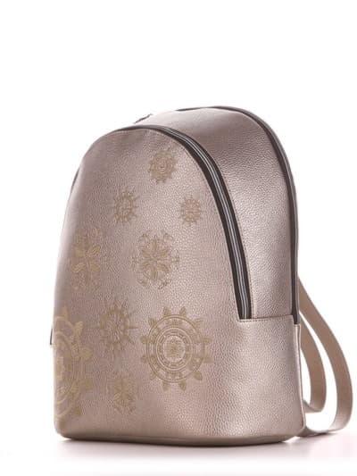 Шкільний рюкзак, модель 191576 золота олива. Фото товару, вид збоку.