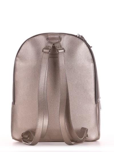Шкільний рюкзак, модель 191576 золота олива. Фото товару, вид ззаду.