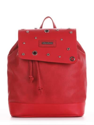 Стильний рюкзак, модель 191582 червоний. Фото товару, вид збоку.