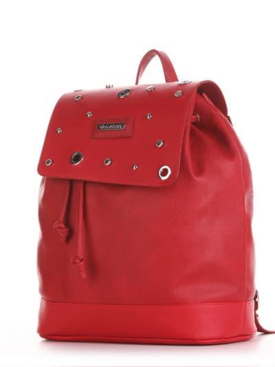 Стильний рюкзак, модель 191582 червоний. Фото товару, вид ззаду.