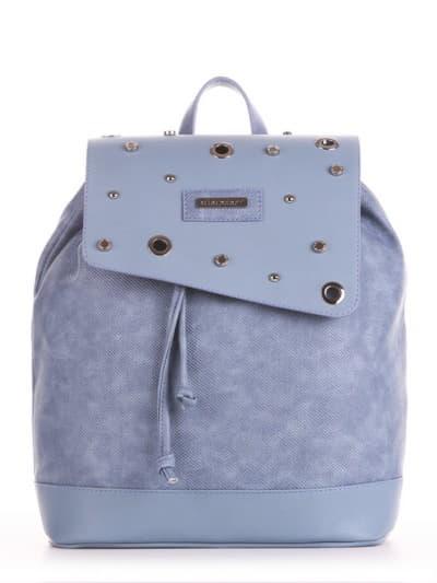 Шкільний рюкзак, модель 191583 бакитна хвиля. Фото товару, вид збоку.