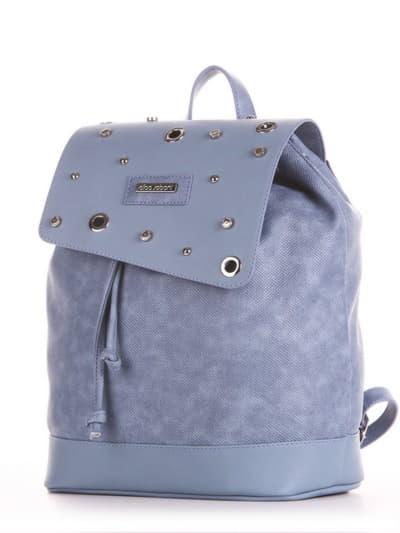 Шкільний рюкзак, модель 191583 бакитна хвиля. Фото товару, вид ззаду.