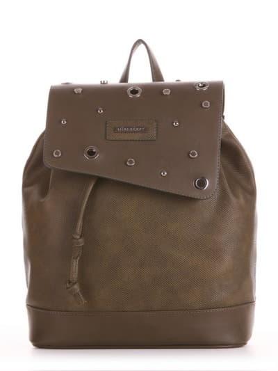Шкільний рюкзак, модель 191584 хакі. Фото товару, вид спереду.