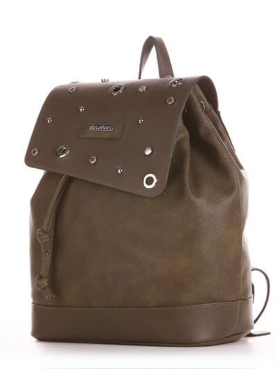 Шкільний рюкзак, модель 191584 хакі. Фото товару, вид збоку.
