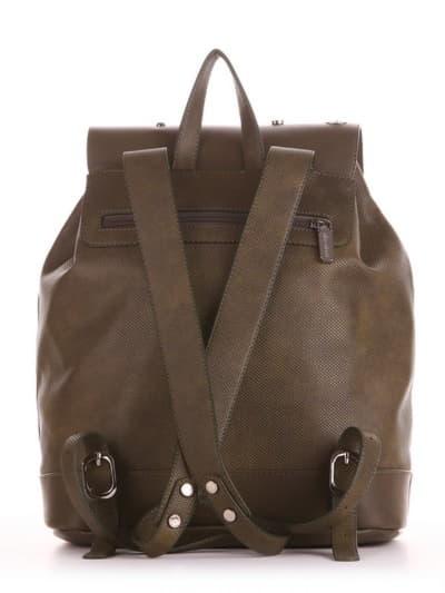 Шкільний рюкзак, модель 191584 хакі. Фото товару, вид ззаду.