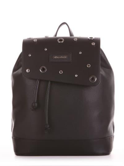 Жіночий рюкзак, модель 191586 чорний. Фото товару, вид спереду.