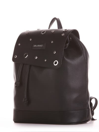 Жіночий рюкзак, модель 191586 чорний. Фото товару, вид збоку.