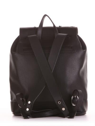 Жіночий рюкзак, модель 191586 чорний. Фото товару, вид ззаду.