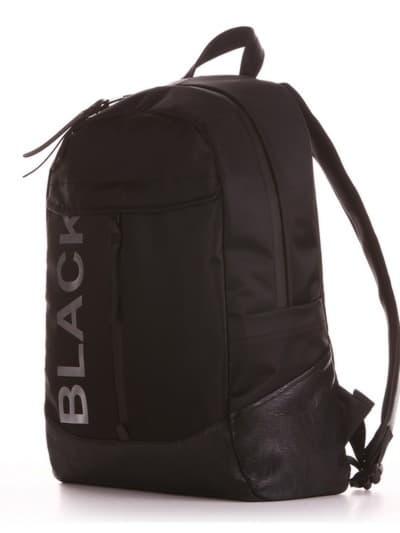 Брендовий рюкзак, модель 191601 чорний. Фото товару, вид ззаду.