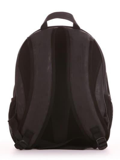 Школьный рюкзак, модель 191633 черный. Фото товара, вид сзади.