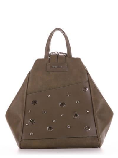 Шкільна сумка - рюкзак, модель 191594 хакі. Фото товару, вид спереду.