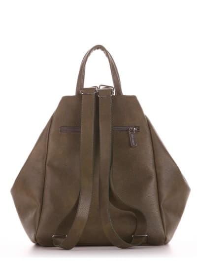 Шкільна сумка - рюкзак, модель 191594 хакі. Фото товару, вид ззаду.