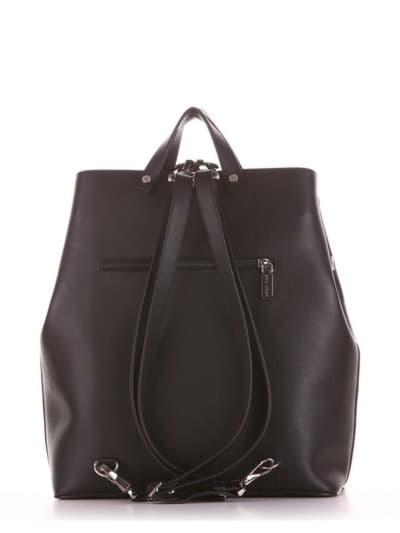 Брендовая сумка - рюкзак, модель 191711 черный. Фото товара, вид дополнительный.