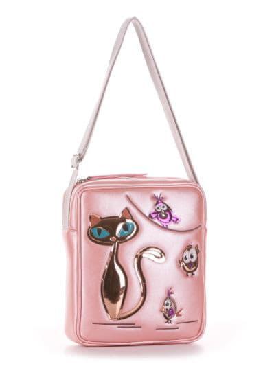 alba soboni. Дитяча сумка через плече 2022 рожевий. Вид 1.
