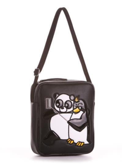 alba soboni. Дитяча сумка через плече 2023 чорний. Вид 1.
