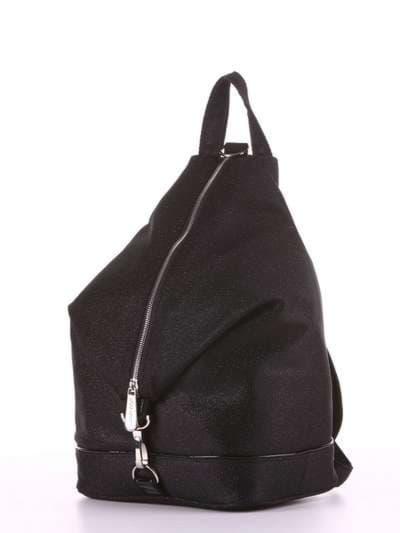 Модный рюкзак, модель 180022 черный. Фото товара, вид сзади.