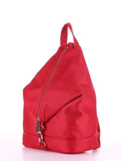 Женский рюкзак, модель 180023 красный. Фото товара, вид сзади.