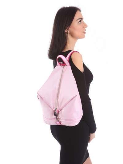 Модний рюкзак, модель 180024 рожевий. Фото товару, вид збоку.
