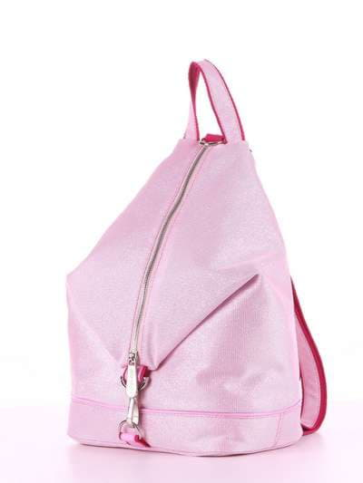 Модний рюкзак, модель 180024 рожевий. Фото товару, вид ззаду.
