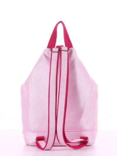 Модний рюкзак, модель 180024 рожевий. Фото товару, вид додатковий.