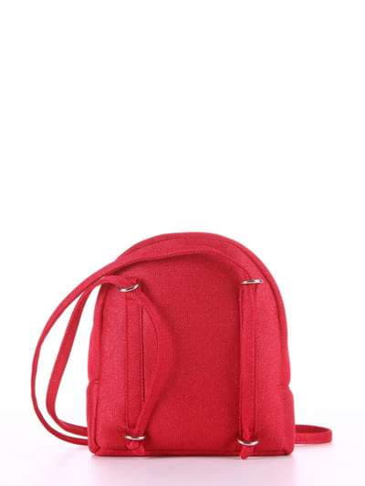 Літній міні-рюкзак, модель 180033 червоний. Фото товару, вид додатковий.