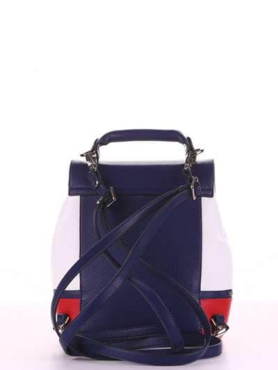 Летний мини-рюкзак, модель 180061 синий-белый. Фото товара, вид дополнительный.