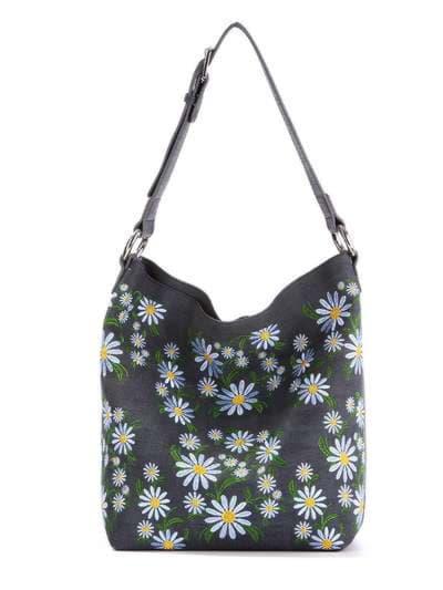 Молодежная сумка, модель 180002 синий. Фото товара, вид спереди._product-ru