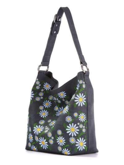 Молодежная сумка, модель 180002 синий. Фото товара, вид сзади.