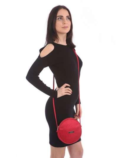 Модный клатч, модель 180043 красный. Фото товара, вид сбоку.