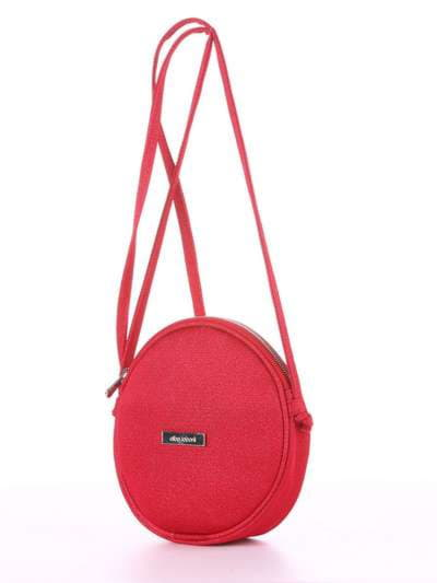 Модный клатч, модель 180043 красный. Фото товара, вид сзади.