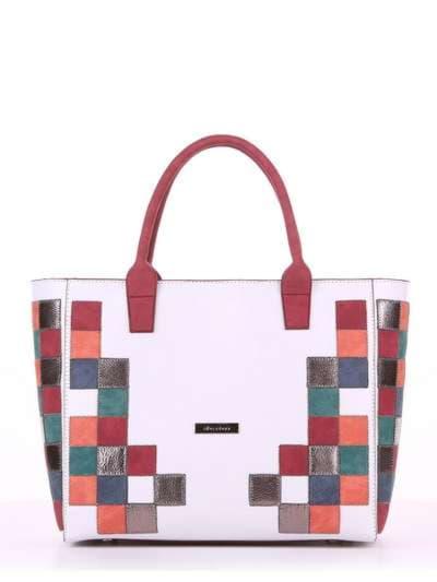 Летняя сумка, модель 180081 белый. Фото товара, вид спереди._product-ru