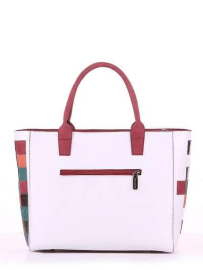 Летняя сумка, модель 180081 белый. Фото товара, вид сзади.