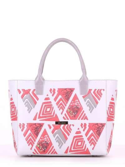 Летняя сумка, модель 180083 белый. Фото товара, вид спереди._product-ru
