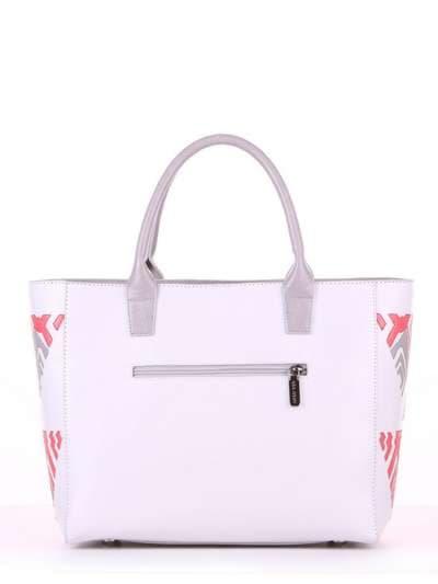Летняя сумка, модель 180083 белый. Фото товара, вид сзади.