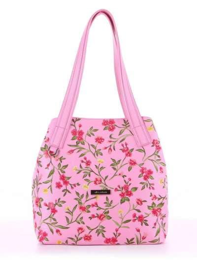 Модная сумка, модель 180131 розовый. Фото товара, вид спереди.