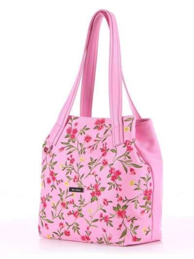 Модная сумка, модель 180131 розовый. Фото товара, вид сзади.